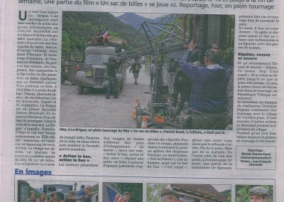 2015-09-23 Nice Matin Page 4 Tournage a La Brigue Hollywood sur Roya