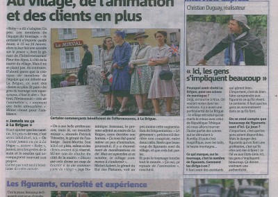 2015-09-23 Nice Matin Page 5 Tournage a La Brigue Hollywood sur Roya