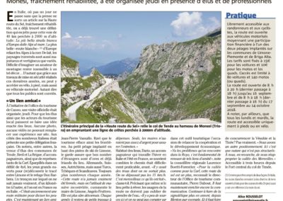 2018-07-28 Nice Matin - La Haute Route du Sel officiellement rouverte
